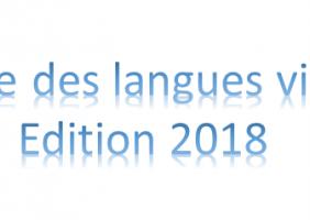 La semaine des langues vivantes édition 2018