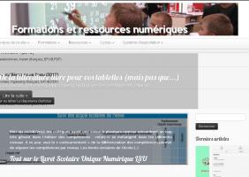 Des sites de formation numérique : générique, tableau blancs, tablettes
